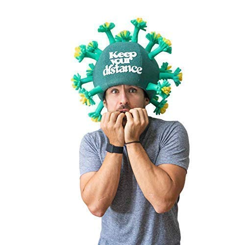 Pandemic Foam Party Virus Hat - Quarantine Birthday Hat - Fathers Day Gift - Adults Social Distancing Party Hats - Stay Home Party Hats - Quarantine Birthday Gift