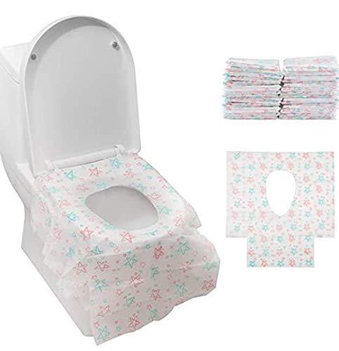 Gimars 24PCS Copriwater Monouso Antibatterico per Bambini e Adulti ExtraGrande Coprisedili Biodegradabili Impermeabili Usa e Getta da WC Gabinetto Toilette Portatili da Viaggi Campeggio