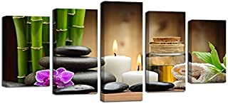 FYLART Home Washroom Decor Shower Accessories Spa,Winter Valentines Day Couples Themed Candle Flowers and Stones Image Print,White Black and Brown,Kitchen Mat