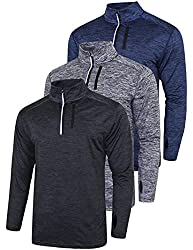 commercial Liberty Imports is a pack of three men's sweaters with zips and pockets, Quick Dry Active … mens running jacket