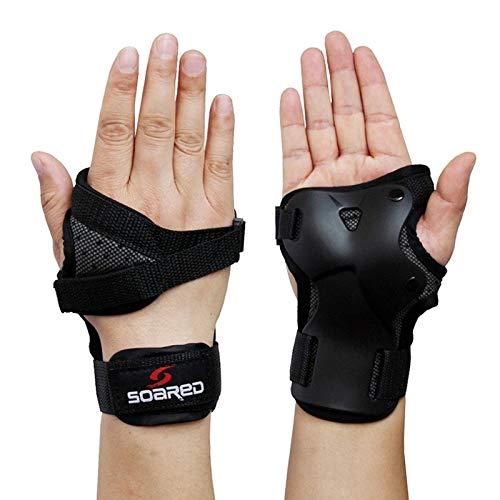 Pvnoocy 1 Paar Handgelenkschützer, Sport-Schutzausrüstung, Handgelenkstütze, Skaten, Handprotektoren, verstellbar, für Kinder und Erwachsene