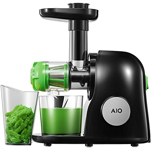 Juicer Machines, Slow Masticating Juicer with Higher Juice Yield and Drier Pulp For Vegetables and Fruits- Easy to Use and Clean   150-Watt   Quiet Motor & Reverse Function   BPA-Free