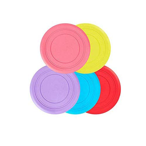 HUI JIN Hundespielzeug Frisbee, interaktives Spielzeug für den Außenbereich, 5 Stück