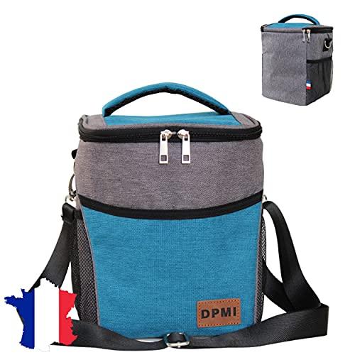 DPMI - Bolsa isotérmica impermeable flexible, 9 litros, Oxford 900D, para mujeres, hombres y niños, para almuerzo en la oficina, obra, escuela, picnic, camping, regalo: plástico grueso, extraíble.