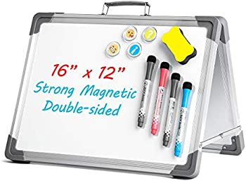 Uho 16 x 12 Inch Magnetic Dry Erase Portable White Board