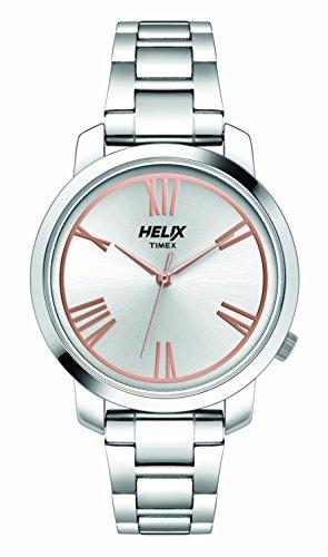 Helix - Reloj analógico para Mujer, Esfera Plateada