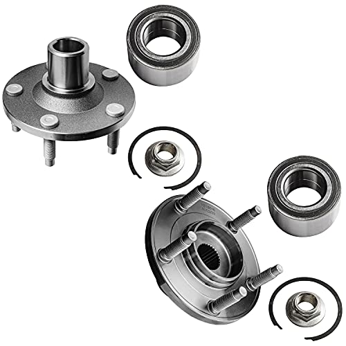 Detroit Axle - Front Wheel Bearing Hub Assembly Replacement for Ford Escape Mazda Tribute Mercury Mariner - 2pc Set
