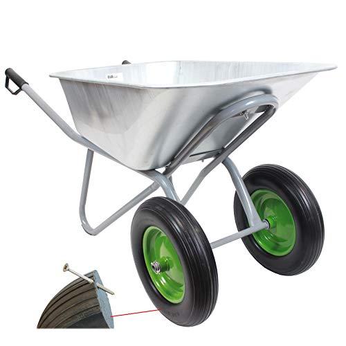 TrutzHolm® Schubkarre 2-Rad PU Rad Metallwanne 150L 150kg