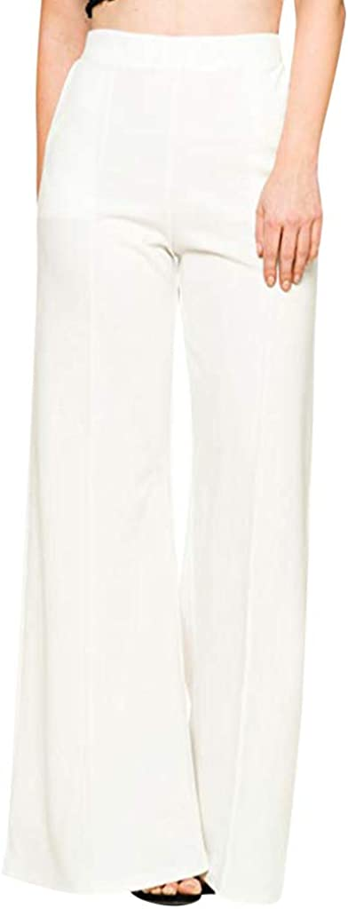ZEFOTIM Casual Limited time trial price High Waist Max 72% OFF Fashion Women's Soli Pants