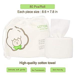 immagine di GothicBride Asciugamani Monouso 100%Cotone Non-tessuto Lusso Tessuto di Cotone Facciale in Cotone per la Pulizia del Viso 80pezzi in 1 borsa