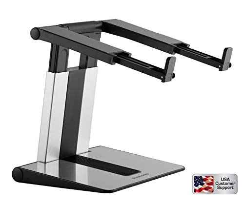 """Diamond Ergonomic Compact Portable Tabletop Height Adjustable Computer Laptop Stand and Riser. Compatible with MacBook, Dell XPS, and All laptops 10 – 15.6"""" laptops up to 11 lbs 7 Height Settings."""