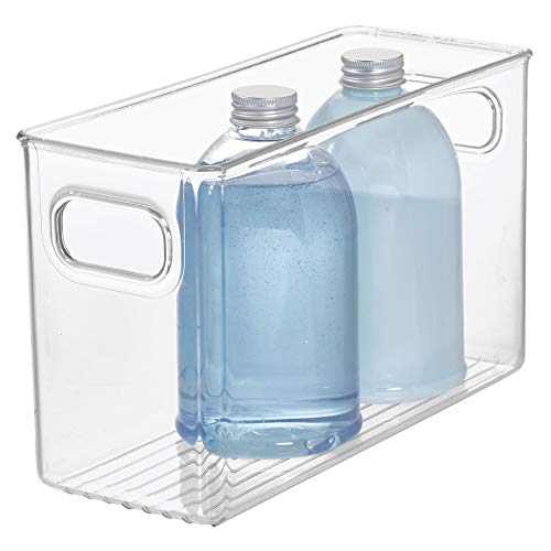 Price comparison product image InterDesign 69330 Linus Storage / Organiser Box with Handles,  Made of Plastic,  Clear,  Large