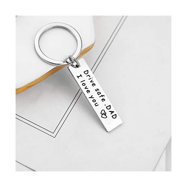 Ldurian Drive Safe Keychain, I Love You Keychain, Gift for Brother Dad Mom Sister Uncle, Family Jewelry, Safe Driving Keyring
