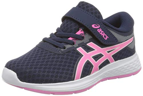 ASICS Unisex-Child Patriot 11 PS Running Shoe, Peacoat/Dragon Fruit, 33.5 EU