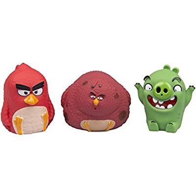 Angry Birds Water Squirters - Great for Bath Time or Pool - 3-Pack (Red, Pig, Terence)
