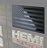 3D Metal American Flag Emblem Decal,Black American Flag Decal,for Car, Truck or SUV,5'x3'(Matte Black 1 Pair)