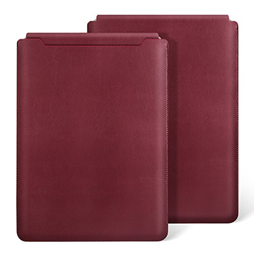 Ayotu MacBook Pro 13-Inch(A1706/A1708) Sleeve Case,Waterproof Sleek Soft Microfiber Felt Synthetic Leather Sleeve Case Cover for 2016 Newest MacBook Pro 13 inch Retina Display A1706 and A1708,Dark Red