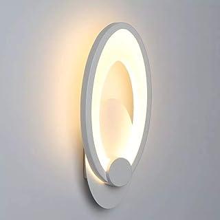 Goeco Lampada da Parete LED, 10W Lampada da Parete in Acrilico, Forma Ovale, per corridoio del Soggiorno della Camera da L...