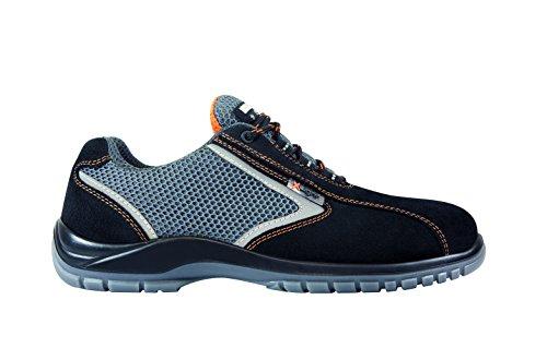 Exena 1101060121427 Calzado de protección laboral, Negro y gris, 42