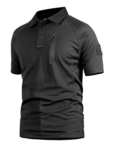 YFNT Uomo Camuffare Risvolto Maglietta Maniche Corte All'aperto Casuale Asciugatura Veloce Traspirante Tattico Militare Camo T Shirt