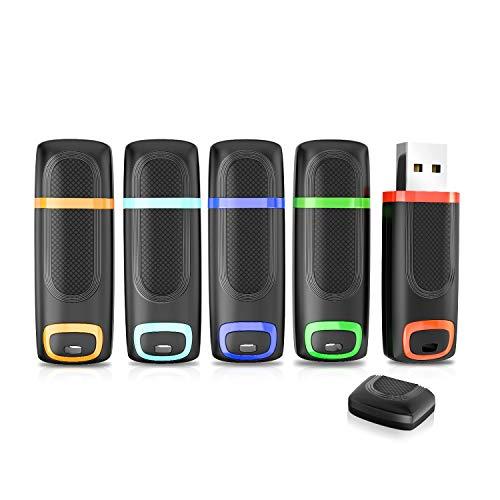 Vansuny - Memoria USB 3.0 32 GB Pack 5, Pendrive USB 32GB Alta Velocidad con indicador LED y Tapa para PC, Desktop, Portátil, Audio de Coche, Consolas de Juegos