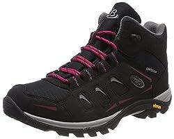 Bruetting Damen Mount Frakes High Trekking- & Wanderstiefel, Schwarz (Schwarz/Pink Schwarz/Pink), 39 EU