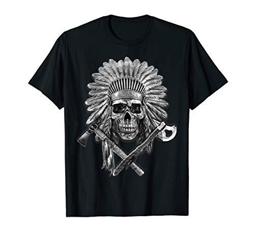 Native American T Shirt Chief Pipe Skull Eternal Spirit Gift