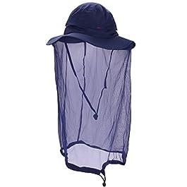 Unisexe Chapeau de Soleil Homme Femme 360° Protection Solaire Anti-UV Casquette Visière avec Moustiquaire Anti-insectes…