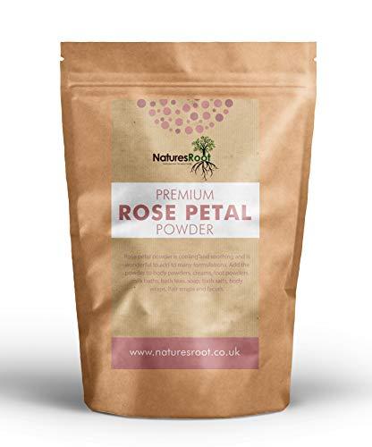 Nature's Root Premium Rose Petal Powder 250g - Ayurvedic Skincare | Anti-Oxidant | Natural Haircare Product | Anti-Inflammatory | 100% Pure