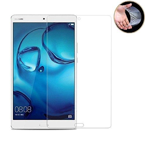 dtab Compact d-01J フィルム M3 8.4 フィルム LeTrade Huawei MediaPad M3 8.4/dtab Compact d-01J 専用 強化ガラス 液晶保護フィルム 気泡防止 耐指紋 高透明 飛散防止処理 硬度9H 2.5D Touch対応