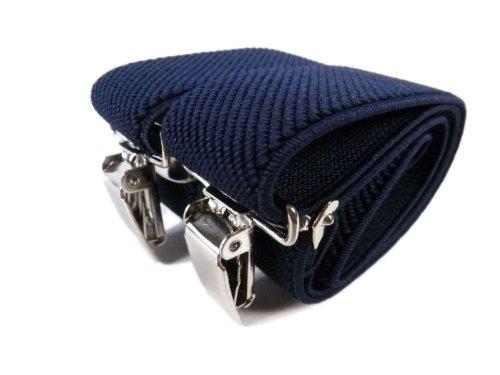 Olata Bretelle Elasticizzata per Bambini 5-12 Anni, Y' Clip design - Blu Scuro