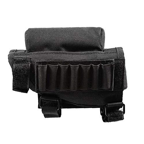 Hiinice Estratégica del Rifle De La Mejilla del Cojín Culata Titular Multifuncional Cartuchos Titular Utilidad Bolsa Negra Herramientas Convenientes