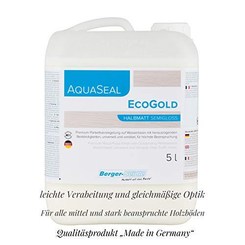 """Profi 1K-Parkettsiegel """"Aqua-Seal EcoGold"""", 1L/5L/10Liter Gebinde glänzend/halbmatt/matt, wasserbasiert (glänzend, 10 Liter)"""