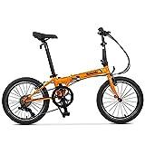 Symzodo Leisure 20 Inch 7 Speed Folding Bike for Adult Men Women, Mini Compact Foldable Bicycle