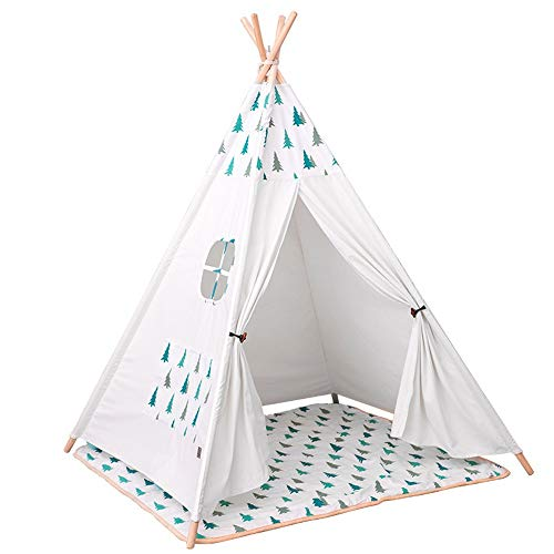 ZHJC Play Tent Log Cabin Tent Play House Christmas Tree Girl Festival Decoration Tent Folding Children's Photography Tent Camping Ground Pad Easy to Assemble (Color : C1, Size : As shown)
