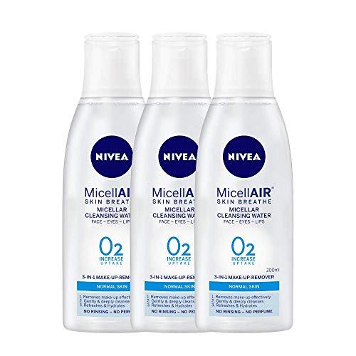 NIVEA Micellair Skin Breathe Micellar Water For Make Up Removal, 200 ml...