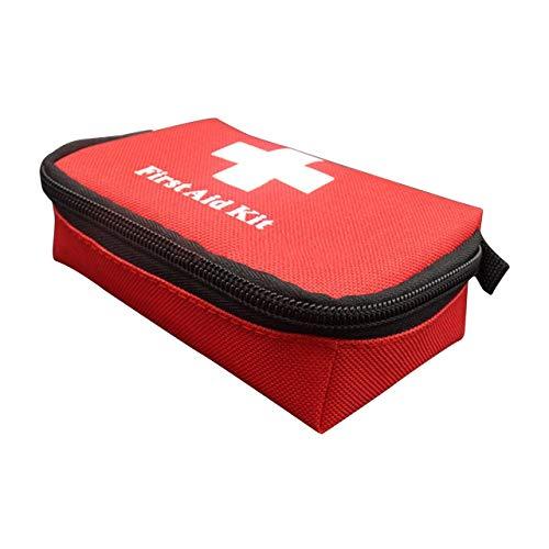 Bolsa de supervivencia de emergencia Kit de primeros auxilios de la familia Mini Kits de viaje deportivos portátiles Bolsa de bolsa médica para el hogar Bolsa de rescate al aire libre (Rojo) ESjasnyfa