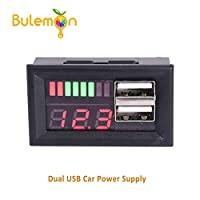 Car battery battery voltage power display head 12V to 5v step-down module dual usb car power supply