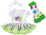 Aeromdale Conjunto de ropa de manga corta con diseño de huevos de Pascua para bebés de 59 cm, 3 unidades