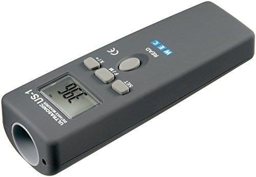 Goobay 77143 ultrasone afstandsmeter met laserscherpstelling, grijs