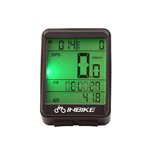 Bike Computer Tacho Multifunktions-Wireless LCD Kilometerzähler mit Cadence Sensor & Speed Sensor für Tracking Riding Geschwindigkeit und Distanz, Kabellos