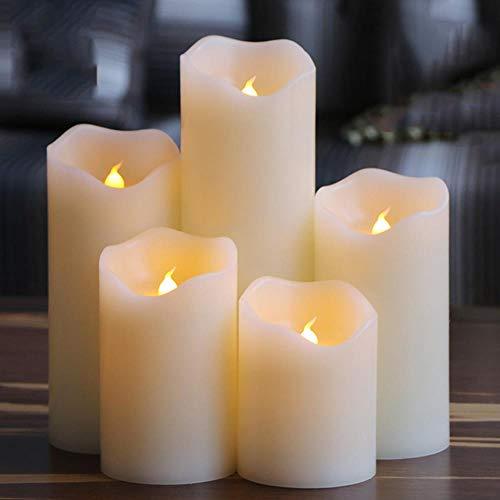 BTKNOO Cire de paraffine électrique sans flamme à bord irrégulier Bougie pour fête de mariage / maison / Noël / décoration et charmante veilleuse