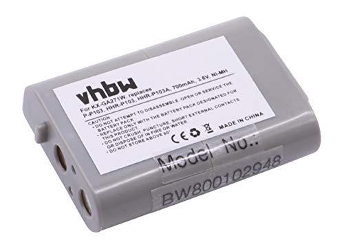 vhbw NI-MH Akku 700mAh (3.6V) für schnurlos Festnetz Handy wie Panasonic 89-1324-00-00, B-784, CBO103, CPH-490, ER-P507, HHR-P103, HHR-P103A