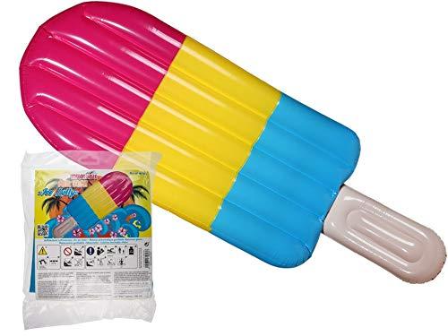 KOSxBO® Aufblasbare XXL Luftmatratze ca. 180 cm im EIS am Stiel Design - Poolparty - Wasser - Spielzeug - Party Gadget
