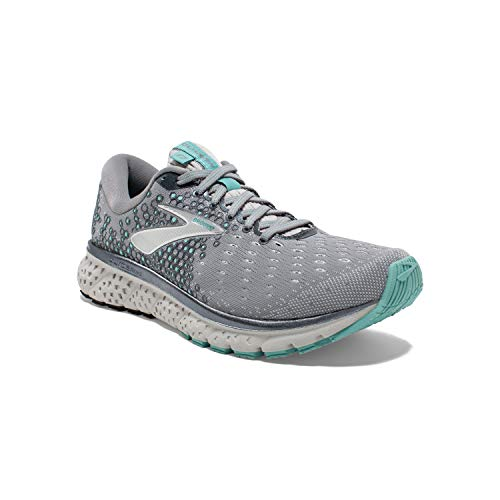Brooks Womens Glycerin 17 Running Shoe - Grey/Aqua/Ebony - B - 6.5