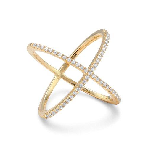 JewelryWeb Mujer 0.925 plata redonda Cubic Zirconia