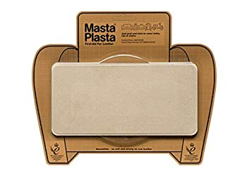 MastaPlasta Self-Adhesive Premium Leather Repair Patch Large Suede Beige - 8 x 4 Inch - First-aid for Sofas car Seats & More