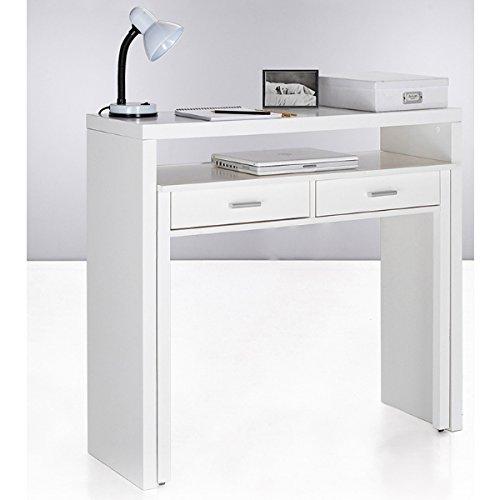 Habitdesign 004582BO - Mesa de Escritorio Extensible, Mesa