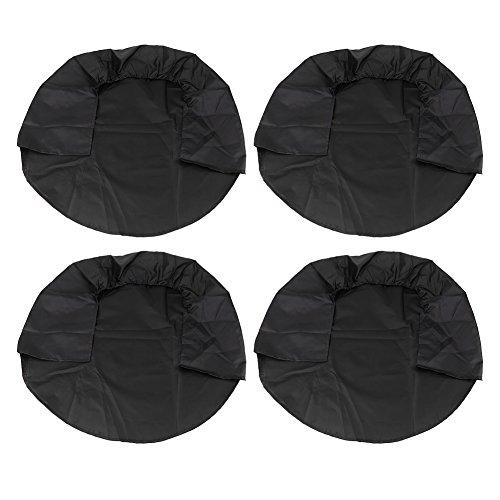 Akozon bandenhoezen voor banden tot 32 inch (25,4 cm), voor caravans, campers, caravans, campers, caravans, caravans default zwart.