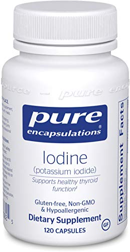 Pure Encapsulations - Iodine (Potassium Iodide) - Hypoallergenic Supplement Supports Healthy Thyroid Function - 120 Capsules